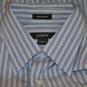 J Crew Blue Strip.e French Cuff Slim Fit Shirt